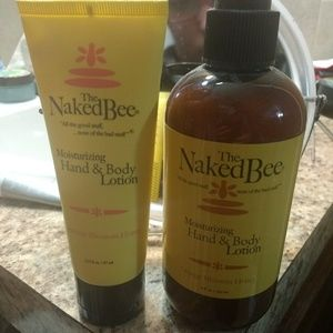 The naked bee lotion set